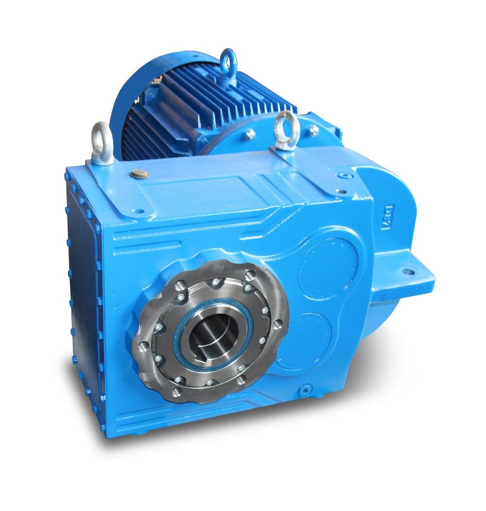 Flachgetriebemotor - Aufsteckgetriebe mit Motor