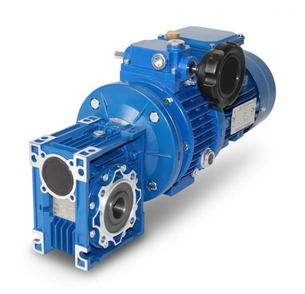 JS- CMRV040+V02-632- 4– 0,18 kW– 17-88 Upm Schnecken- Verstellgetriebemotor,