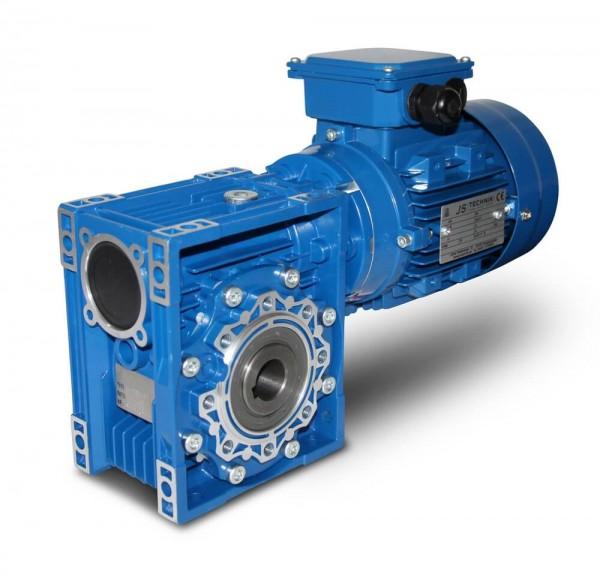 JS- CMRV 075-801-2 - 0,75 KW - 46,7 Upm- Schneckengetriebemotor