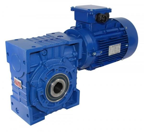JS-EV 100-802-0,55 KW- 8,4 Upm- Schneckengetriebe + AC- Motor