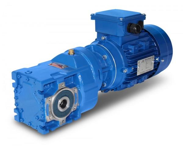 JS-KV002-63-4-0,12 kW-174 U/min Kegelradgetriebemotor