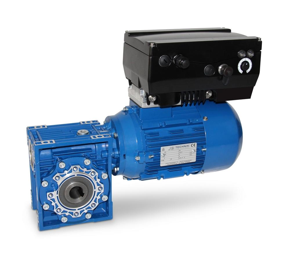 Schneckengetriebemotor mit Frequenzumrichter
