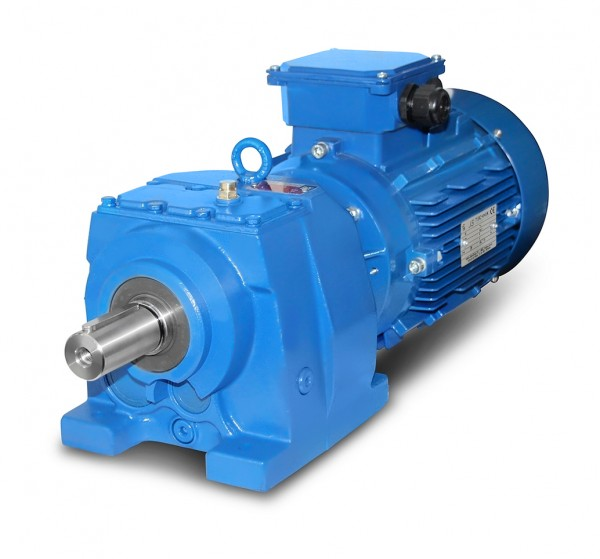 JS-MV573-132S-4 - 5,5kW - 18Upm Stirnradgetriebemotor