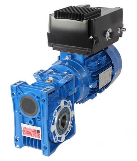 Schneckengetriebe mit Elektromotor und Frequenzumrichter