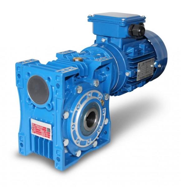 JS-EV 080-90S-0,75 KW- 31 Upm- Schneckengetriebe + AC- Motor