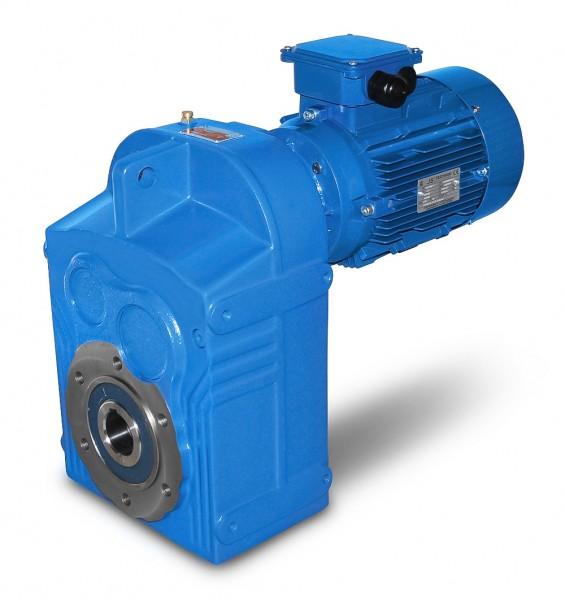 JS-DV773-132M-4-7,5 kW-8,8 U/min Flachgetriebemotor