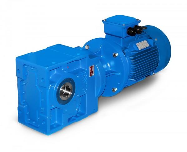 JS-KV673-132M-4-7,5 kW-50 U/min Kegelradgetriebemotor