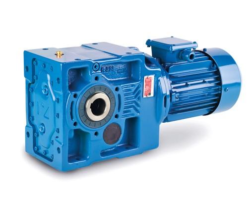 Kegelradgetriebemotor JS-KV873-132-4-5,5 KW-8,7 U/min