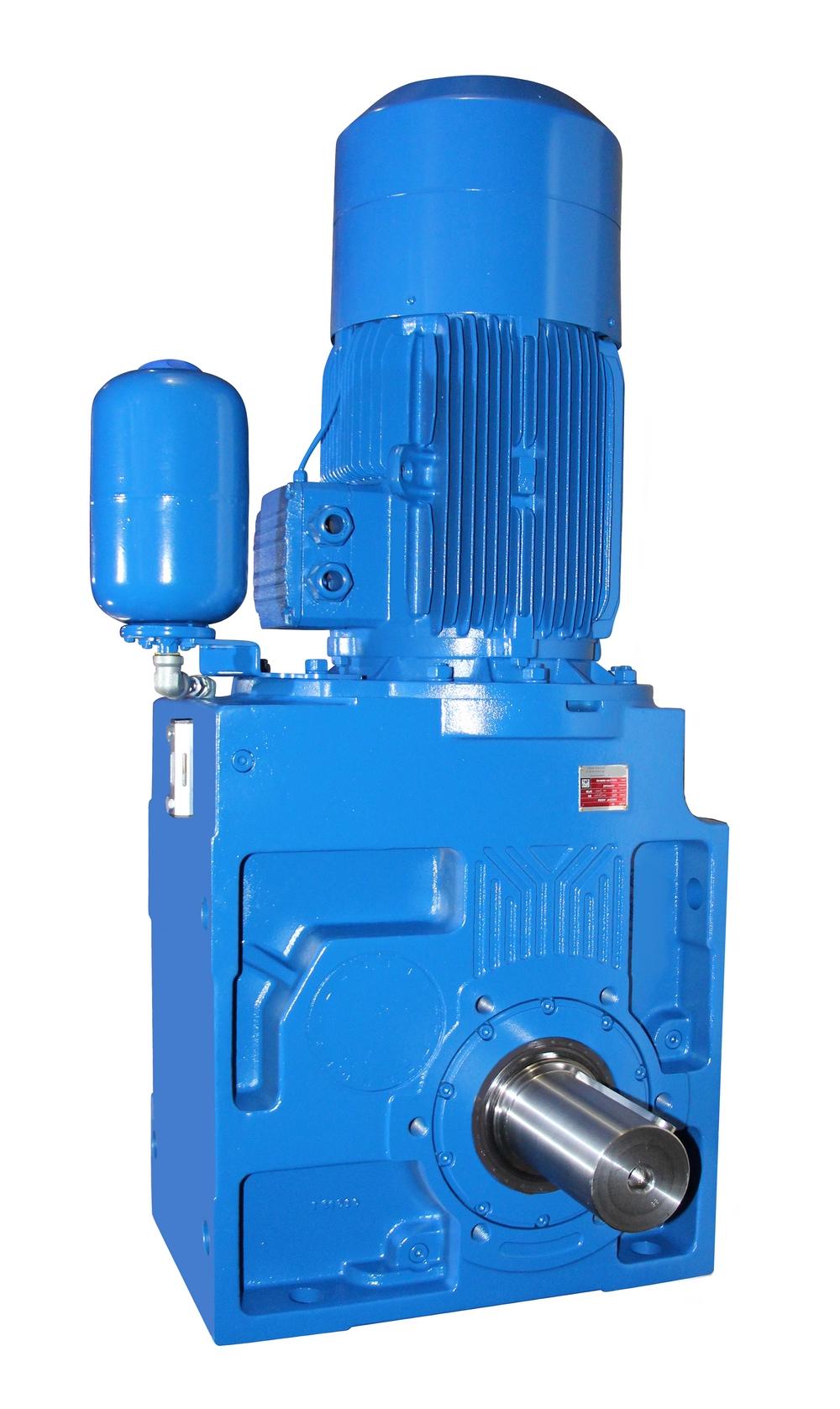 Kegelstirnradgetriebemotor mit Druckausgleichsbehälter